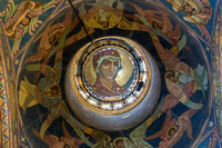Church of the Savior on the Spilt Blood - decoration right at the top on the ceiling